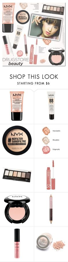 """Beauty on a Budget: Drugstore Beauty"" by helenevlacho ❤ liked on Polyvore featuring beauty, NYX, contestentry, beautyset and drugstorebeauty"