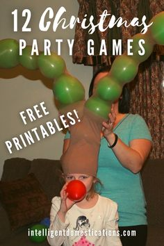 12 Christmas party games you can play with your family this year. Many can be played any time of the year for any occasion. Free printables included. Family friendly party games. #christmasseason #festivechristmas Christmas Party Games, 12 Days Of Christmas, Christmas Shopping, Christmas Holidays, Christmas Decorations, Rainy Day Games, Xmas Tree, Games For Kids, Cheerleading