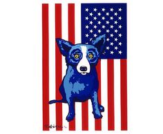 Blue Dog for President - George Rodrigue Studios Blue Dog Painting, Rock Painting, Blue Dog Art, Vintage Fox, Dog Cafe, 4th Grade Art, Dog Paintings, Sign Printing, Dogs Of The World