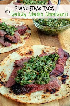 French Delicacies Essentials - Some Uncomplicated Strategies For Newbies Make The Best Street Food At Home With These Flank Steak Tacos With Garlicky Cilantro Chimichurri. These Tacos Are Essentially Going To Be Your Go-To Summer, Grilling Meal.