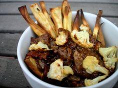 Paleo Bacon Sweet Potato Poutine