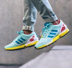 Adidas ZX Flux Clear Aqua/Bold Aqua/Footwear White.