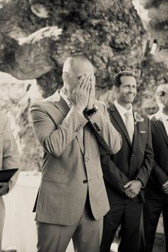 Priceless grooms reaction when he sees his bride // Photography by Zoom Theory // Wedding Planning & Coordination from All You Need is Love Events