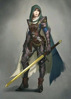Female Halfling or Human Fighter or Paladin- Sword Heavy Armor