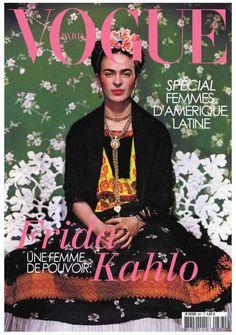 Frida Kahlo for Vogue Paris 1939, by Nickolas Muray