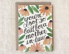 mother-in-law Mother's Day card | Wit & Whistle