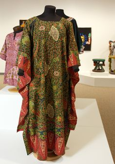 """Dutch Wax m'Boubou featured in """"Measure of Earth: Textiles and Territory in West Africa"""" opening at the African American Cultural Center Gallery (Sept 19 - Dec 18, 2013)   Gregg Museum of Art & Design   www.ncsu.edu/gregg   NC State University"""