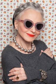The perfect match: Karen Walker and Advanced Style.