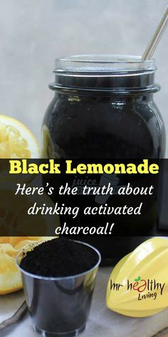 Lemonade - Here's the truth about drinking activated charcoal! - Entgiften -Black Lemonade - Here's the truth about drinking activated charcoal! Detox Diet Drinks, Detox Juice Recipes, Natural Detox Drinks, Detox Juices, Cleanse Recipes, Cleanse Detox, Diet Detox, Diet Recipes, Stomach Cleanse