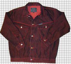 Stingray Denim Jean Jacket Coat Mahogany / Burgundy Mens Large #Stingray #BasicJacket