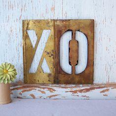 brass stencil letters! $14.00