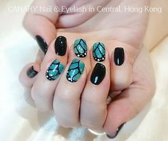 Butterfly wings パタパタパタ)))) #butterflynails #ちょうちょ #羽 #butterflywings #nailart #gelnails #美甲 Eyelash Salon, Eyelashes, Salons, Turquoise, Nailart, Beauty, Instagram, Jewelry, Lashes