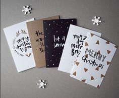 Kartki świąteczne DIY, ręcznie robione kartki świąteczne, fot. instagram.com/rosiecaitlin