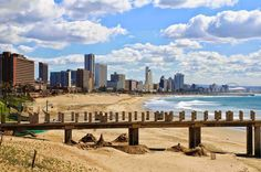 Cityscape and beach of Durban - South Africa. Durban is the third most populous , South Africa Beach, South Africa Tours, Msc Cruises, Cultural Experience, Take Better Photos, Adventure Tours, Travel Tours, Beach Photography, Day Tours