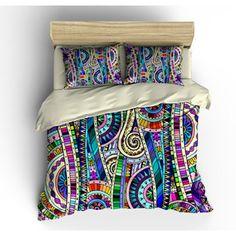 Bedding-Boho Chic Mosaic Design Duvet Cover Bedding Sets-Color Crazy Pillow Shams Comforter Co