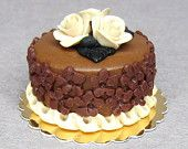 Dolls house food Shades of Chocolate 1:12  Dollhouse miniature cake
