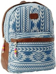 Canvas Light Blue Lace Backpack Book Bags School Bags For Girls ...
