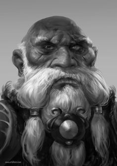 Mad dwarf, Miroslav Petrov on ArtStation at https://www.artstation.com/artwork/3wyGE