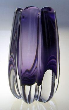 1940s Elis Bergh KOSTA art glass vase