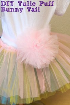 DIY Tulle Puff Bunny Tail