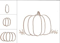 my classes love to draw pumpkins teach your class an easy way to make a somewhat rea - Draw Halloween Pumpkin