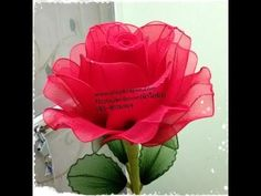 Cómo hacer una rosa de nylon - How to make a nylon flower - YouTube