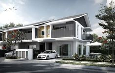 Nadayu Properties Berhad Small House Design, Modern House Design, Cluster House, Narrow House Plans, Modern Properties, Affordable Housing, Residential Architecture, House Styles, Exterior