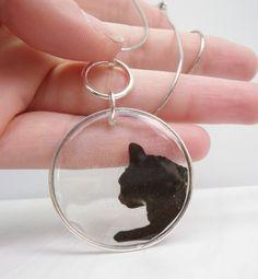 Black Cat Resin Pendant