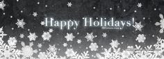 Snowflakes Happy Holidays Facebook Covers