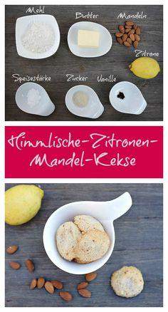 Was für ein perfekter Keks. Diese Zitronen-Mandel-Kekse zergehen förmlich auf der Zunge und der Geschmack von Zitrone, Butter und Mandel verbinden sich zu einem wunderbaren Genuss.