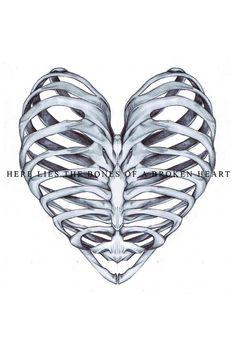 I want this tattoo! Minus the saying. rib cage heart tattoo