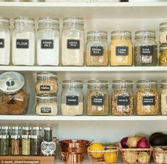 'Pantry GOALS':One woman shared a photo of her pantry filled with labelled pasta, spices and condiments, while another proudly showed off her pantry filled with rose gold pots and fruit bowls, perfectly spaced saucepans and small modern plants