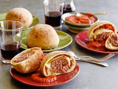 Pepperoni Pizza Burger Bomba Recipe : Jeff Mauro : Food Network - FoodNetwork.com
