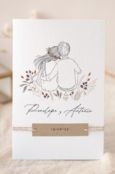 Una pareja ilustrada por nuestras diseñadoras, tumbados y relajados en un jardín de flores silvestres... Déjate enamorar por el modelo My Dear, un éxito entre todos tus invitados. Descubre todos los complementos personalizados a juego en nuestra web. #cottonbirdes #nuevacoleccion #boda #blogboda #instaboda #instawedding #futurasnovias #invitacionesdeboda #wedding #noscasamos #inspiracionbodas #weddinginspiration #novias2020 #boda2020 #boda2021 #novia2021 #ilustracion #novios #mydear Cartoon Art, Cute Cartoon, Invitation Cards, Wedding Invitations, Spanish Wedding, Paint And Sip, Paper Cards, Wedding Cards, Marie