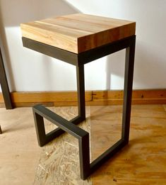 Ideas Kitchen Table And Chairs Diy Bar Stools Bar Table Diy, Diy Bar Stools, Wood Bar Table, Kitchen Table Chairs, Metal Bar Stools, Bar Chairs, Table And Chairs, Bar Tables, Room Chairs