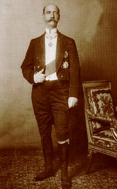 George I, King of Greece (1845-1914).  King George was born Prince William of Schleswig-Holstein-Sonderburg-Glucksburg, a prince of Denmark.  At age 17 he was elected King of Greece by the Greek National Assembly. King George married Princess Olga Constantinovna of Russia and began a new dynasty in Greece.  Two of his sisters became queens.