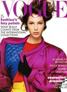 Christy Turlington by Patrick Demarchelier Vogue UK July 1987