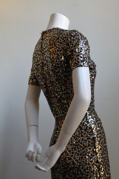 1960's BILL BLASS floor length sequined gown | From a collection of rare vintage evening dresses at https://www.1stdibs.com/fashion/clothing/evening-dresses/