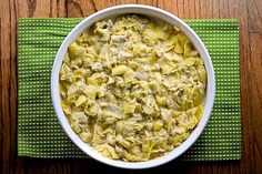 Hot Artichoke and Banana Pepper Dip (3 can drained and chopped artichoke hearts, 2 C finely shredded Parmigiano-Reggiano cheese, 1 1/2 C mayo, 1 finely chopped yellow bell pepper, 1 medium fresh banana pepper chopped or a 1/2 a jar of banana peppers, 6 minced garlic cloves, and cumin)