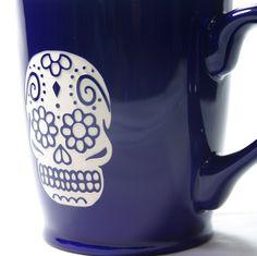 Sugar Skull Dia de los Muertos coffee mug