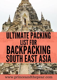The ultimate packing list for backpacking South East Asia. Enjoy your adventures & bring these essentials!