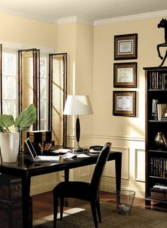 Interior Paint Ideas And Inspiration. Purple Home OfficesPurple Paint  ColorsOffice ...