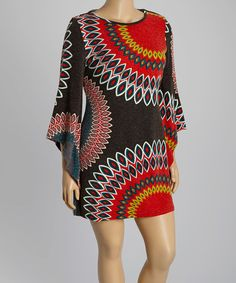 Another great find on #zulily! Black & Red Circle Sweater Dress - Plus #zulilyfinds
