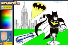 Batman Cartoon Coloring game online Play Online, Online Games, Batman Games, Batman Cartoon, Free Games, Coloring, Comic Books, Comics, Cartoons