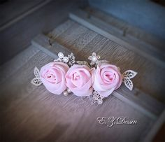 Check out Wedding hair flower.Barrettes fabric pink hair accessories.Bridal Hair Piece hair flower Wedding Hairpiece flower brooch bridal hair jewelry on emeliebeads
