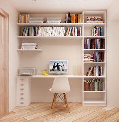Study Room Design, Study Room Decor, Small Room Design, Home Room Design, Home Office Design, Home Office Decor, Small Room Bedroom, Room Ideas Bedroom, Home Decor Bedroom