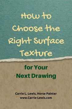 How to Choose the Right Surface Texture for Your Next Drawing. Do you know when smooth paper is best or when rough paper might be the better choice?