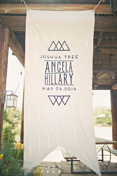wedding banner // Joshua Tree wedding - 100 Layer Cake