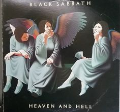 Black Sabbath, Heaven and Hell, Vintage Record Album, Vinyl LP, Classic Heavy Metal Rock Music, British Rock Band, Ronnie James Dio by VintageCoolRecords on Etsy