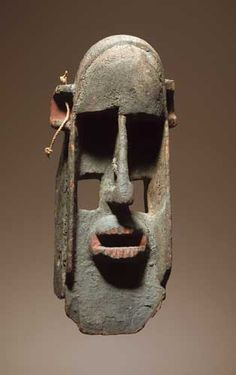 Dogon peoples, Mali Wood, pigment, encrustation Height 43 cm
